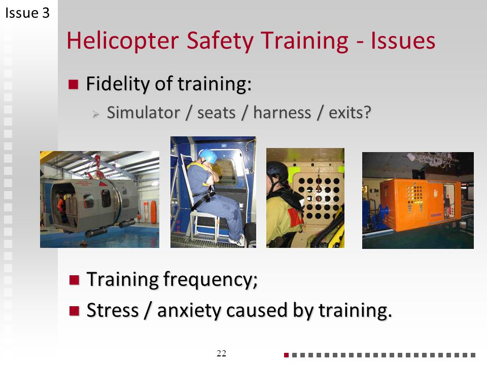 Helicopter Safety Training - Issues
