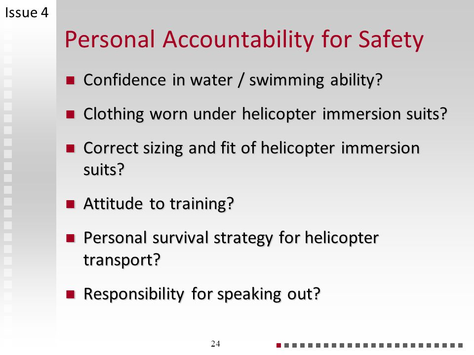 Personal Accountability for Safety
