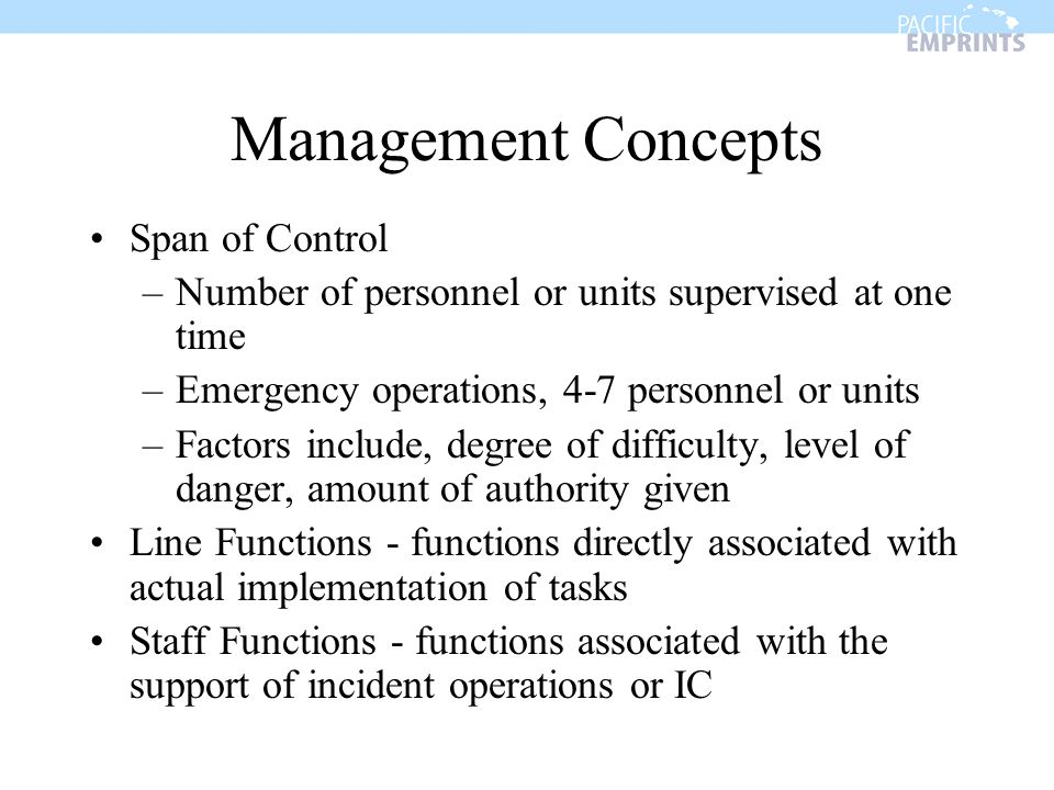 Management Concepts Span of Control