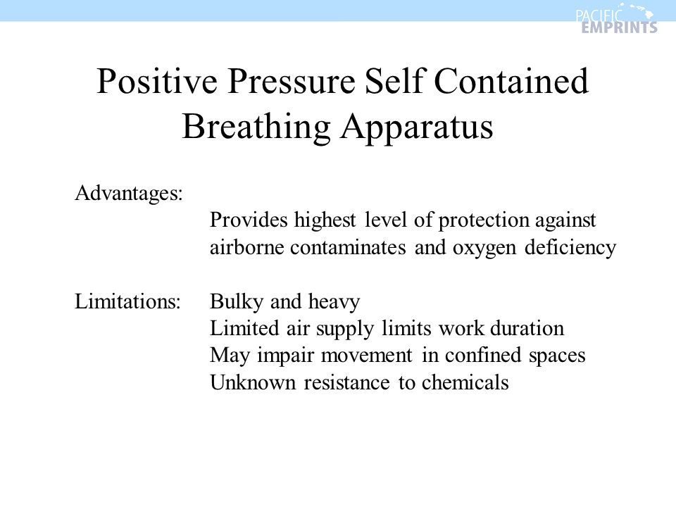 Positive Pressure Self Contained Breathing Apparatus