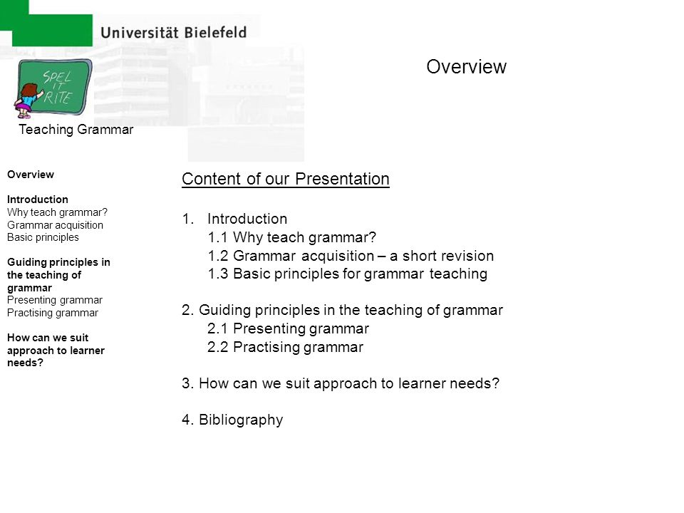 Overview Content of our Presentation Introduction