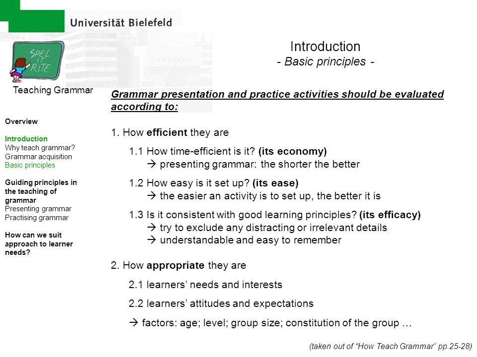 Introduction - Basic principles -