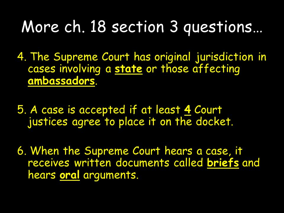 More ch. 18 section 3 questions…