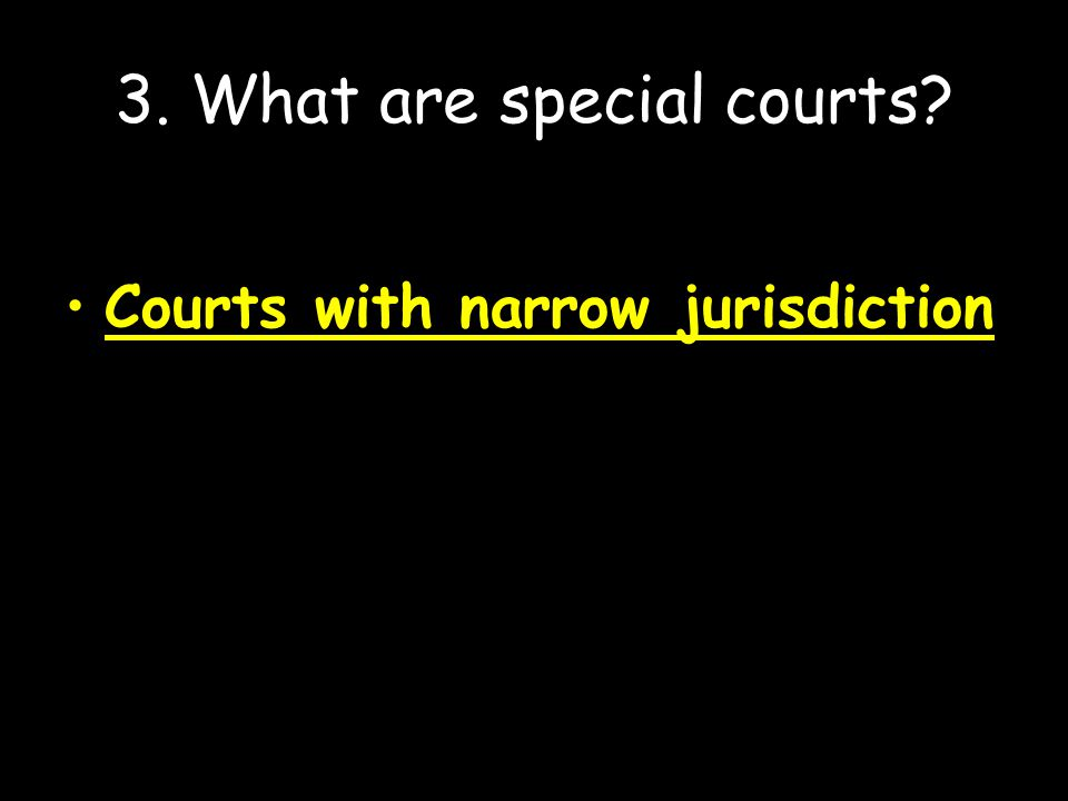 3. What are special courts