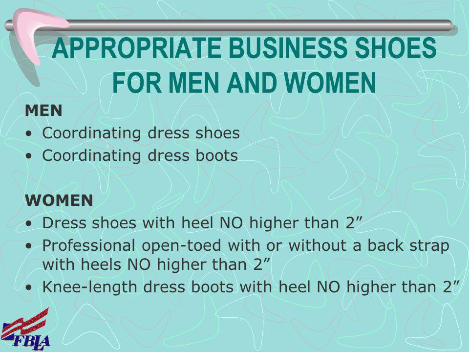 APPROPRIATE BUSINESS SHOES FOR MEN AND WOMEN