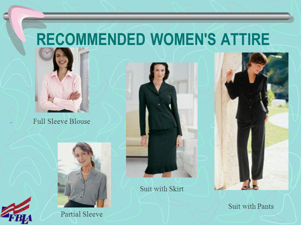 RECOMMENDED WOMEN S ATTIRE