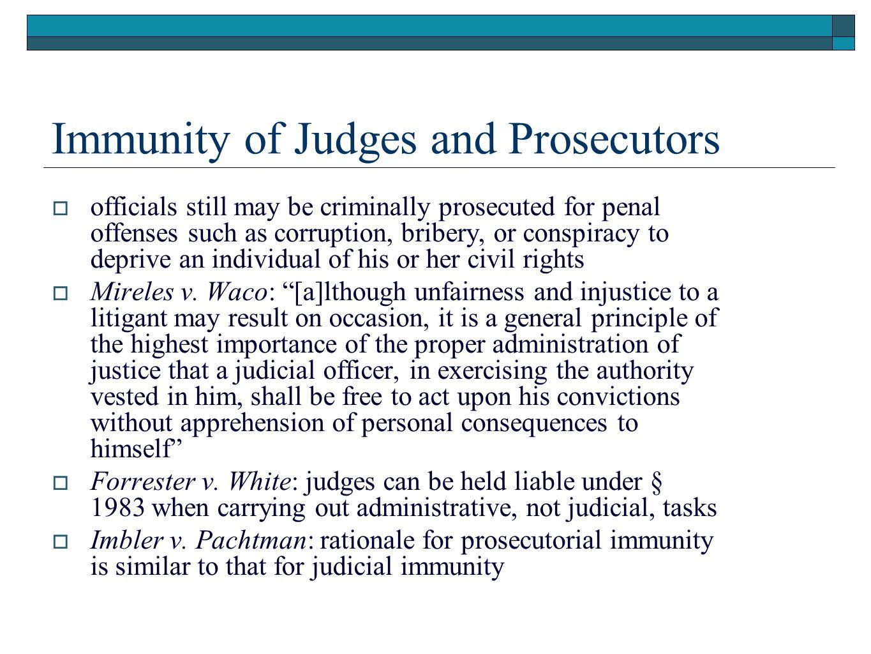 Immunity of Judges and Prosecutors