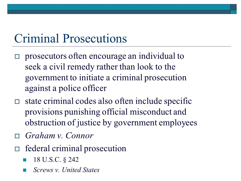 Criminal Prosecutions