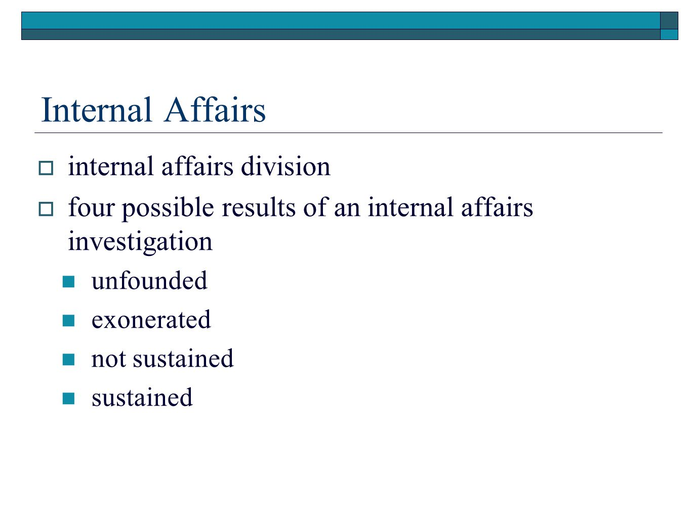 Internal Affairs internal affairs division