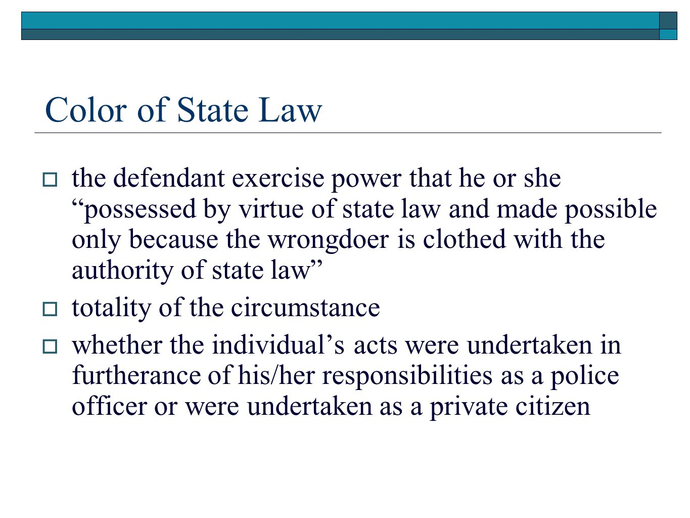 Color of State Law