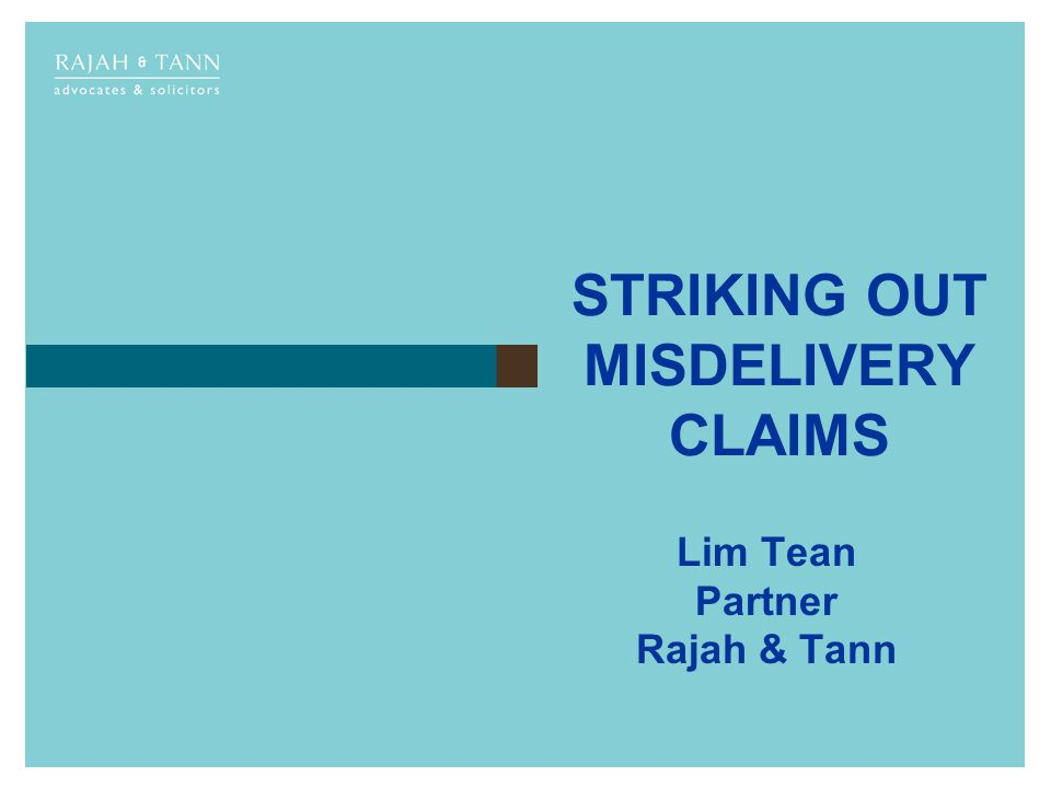 STRIKING OUT MISDELIVERY CLAIMS