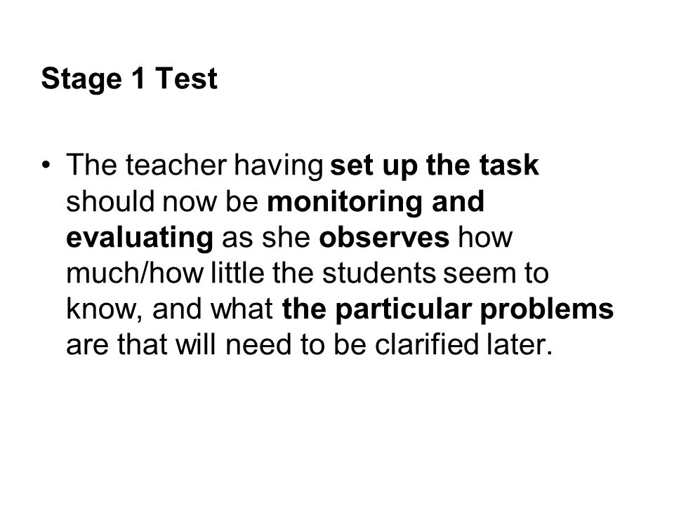 Stage 1 Test