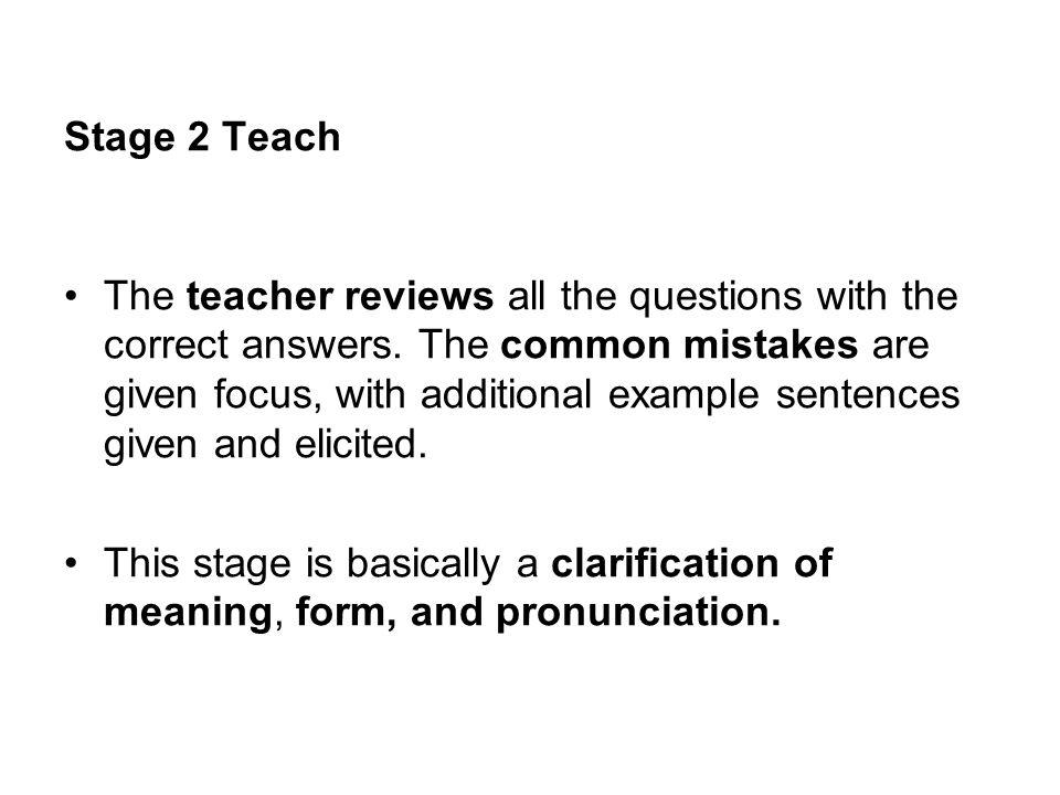 Stage 2 Teach
