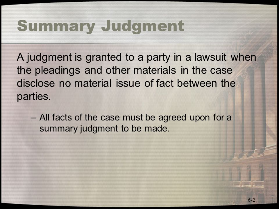 Summary Judgment
