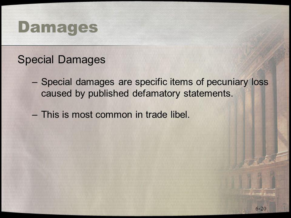 Damages Special Damages