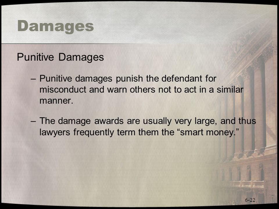 Damages Punitive Damages