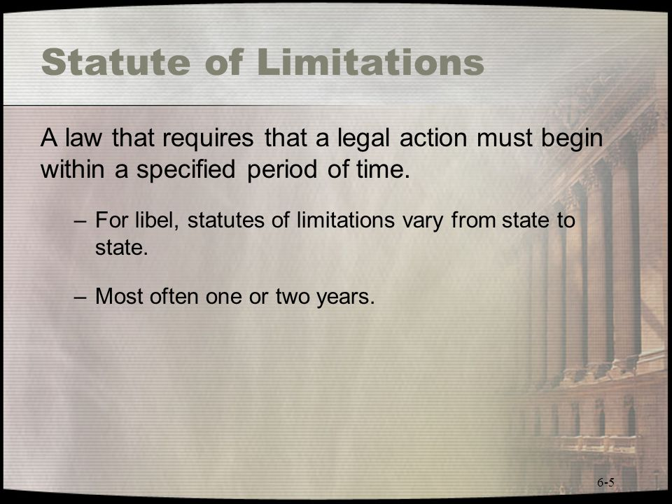 Statute of Limitations
