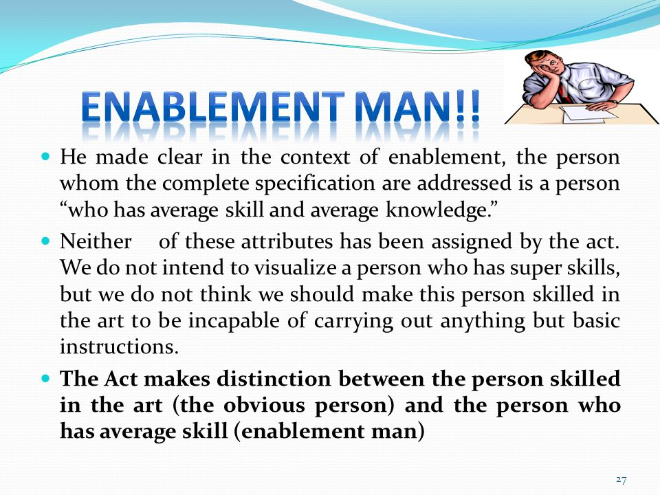 ENABLEMENT MAN!!