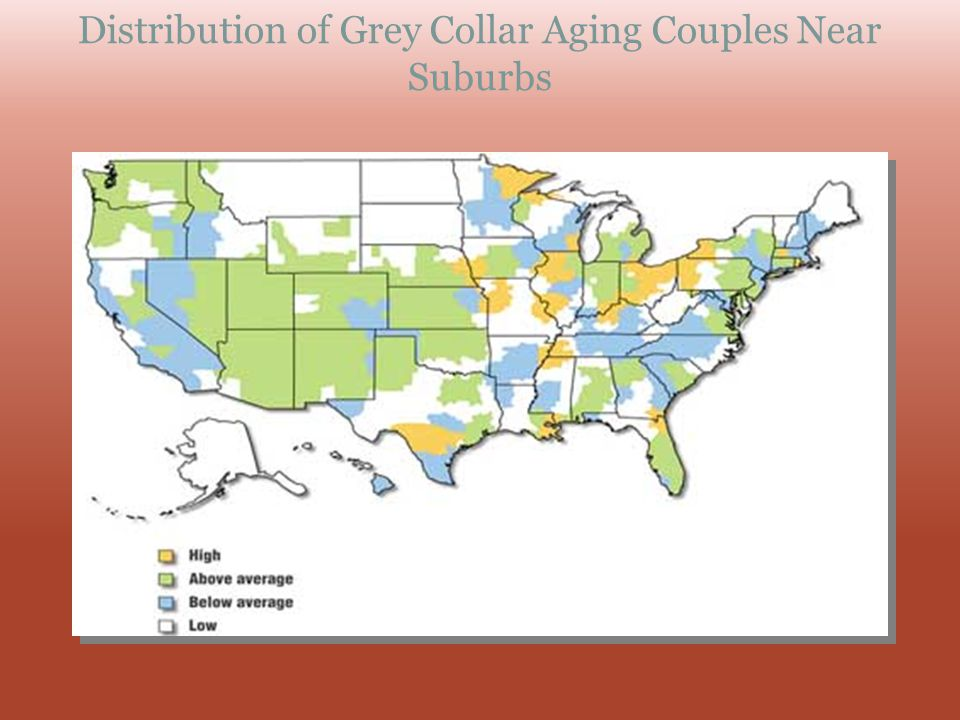 Distribution of Grey Collar Aging Couples Near Suburbs