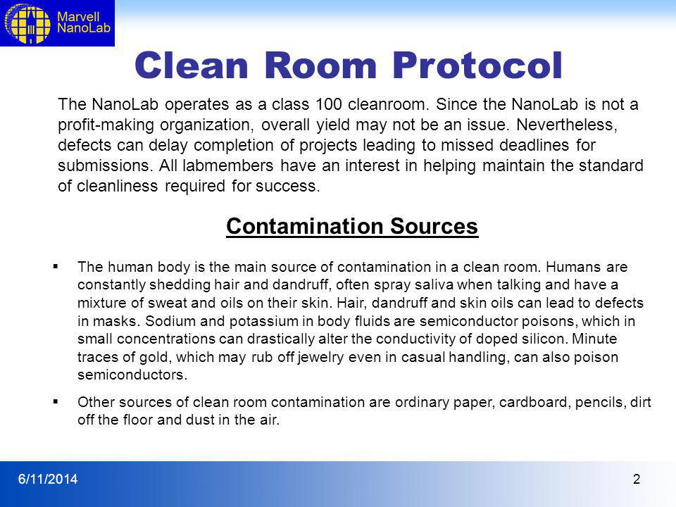 Contamination Sources