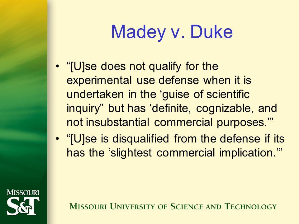 Madey v. Duke