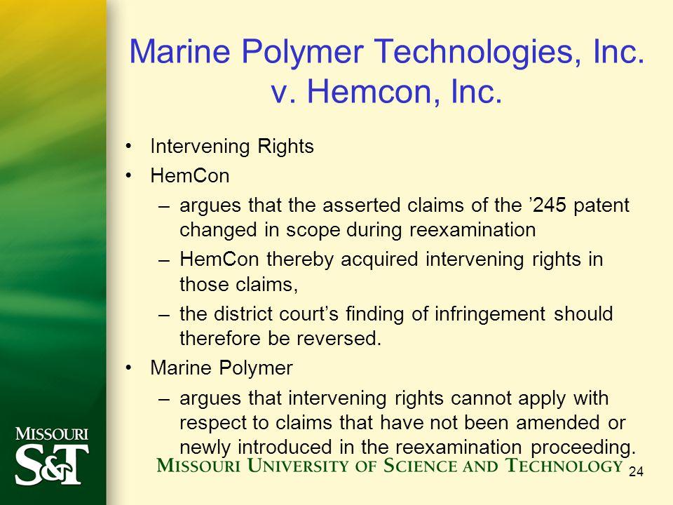 Marine Polymer Technologies, Inc. v. Hemcon, Inc.