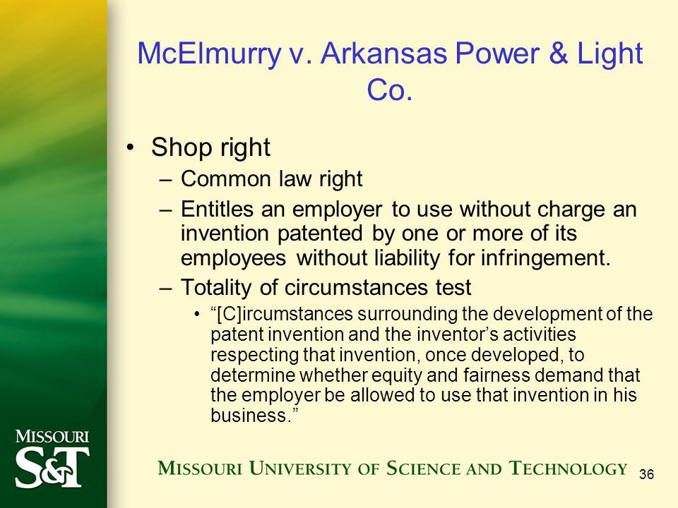 McElmurry v. Arkansas Power & Light Co.