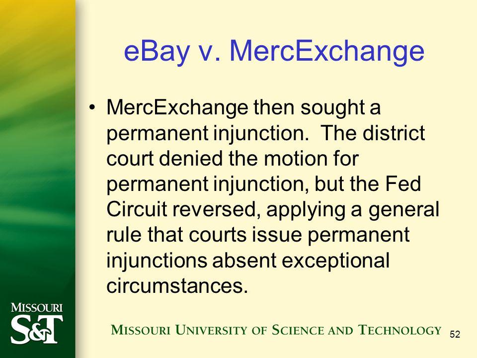 eBay v. MercExchange