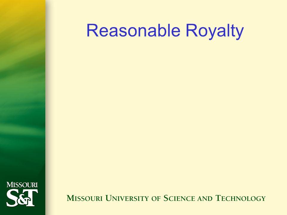Reasonable Royalty