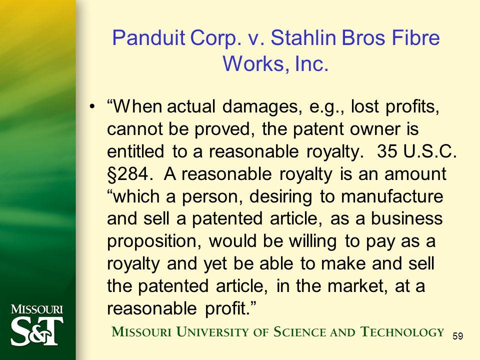 Panduit Corp. v. Stahlin Bros Fibre Works, Inc.