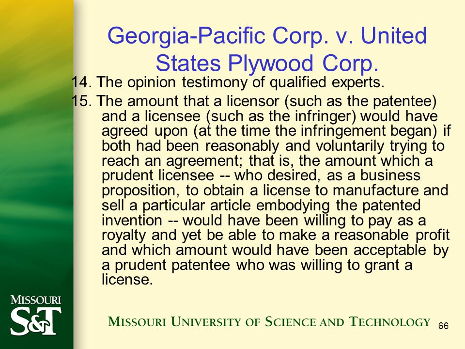 Georgia-Pacific Corp. v. United States Plywood Corp.