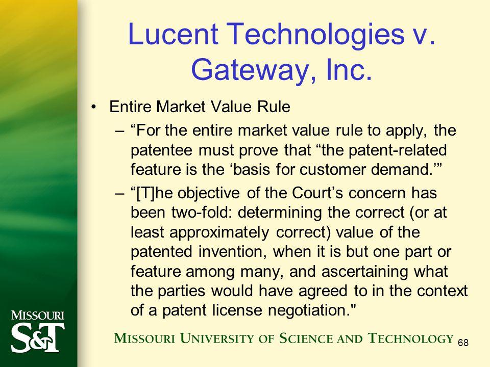 Lucent Technologies v. Gateway, Inc.