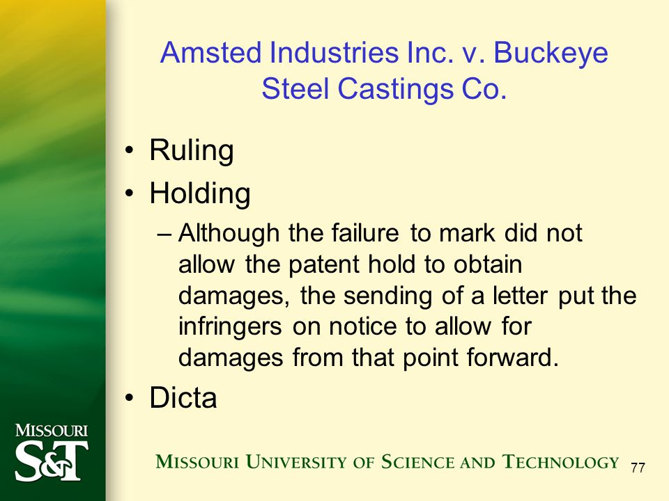Amsted Industries Inc. v. Buckeye Steel Castings Co.