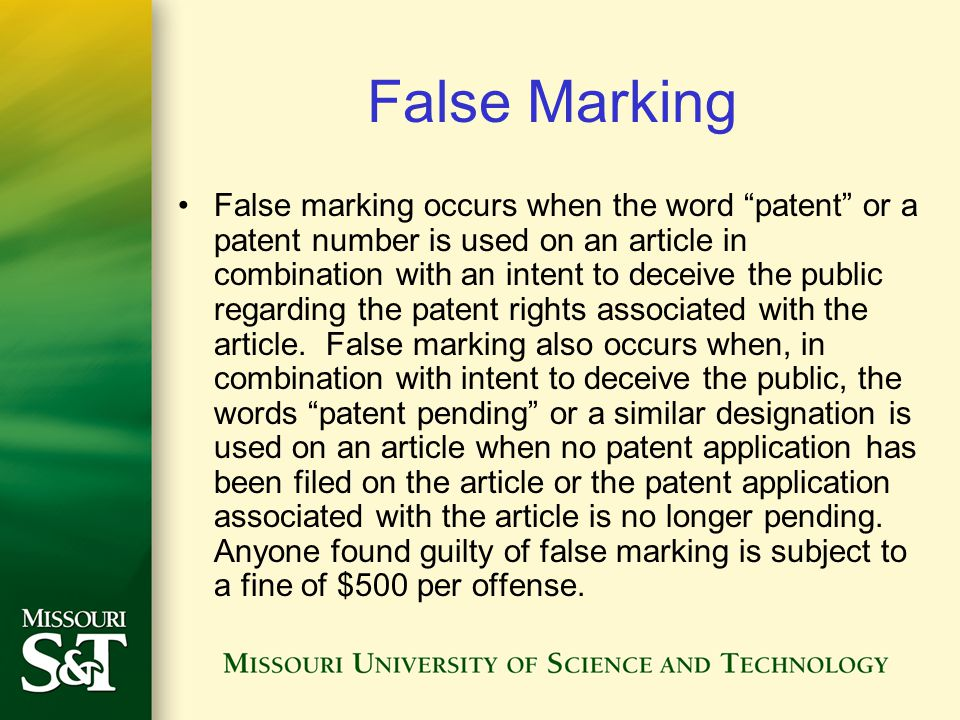 False Marking