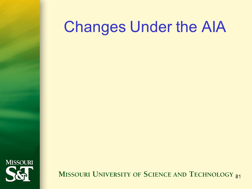 Changes Under the AIA