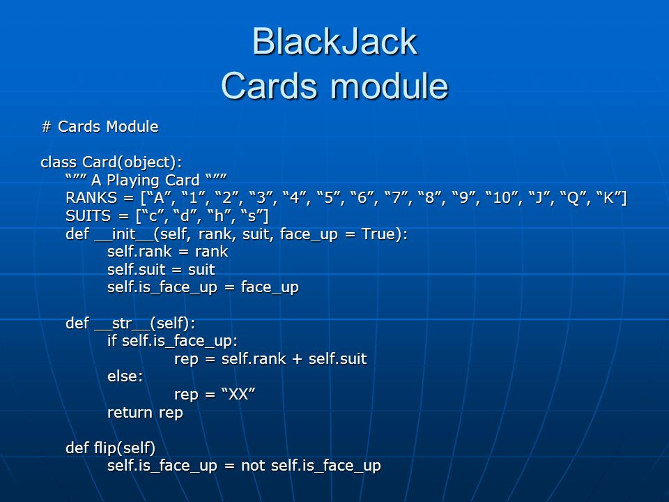 BlackJack Cards module