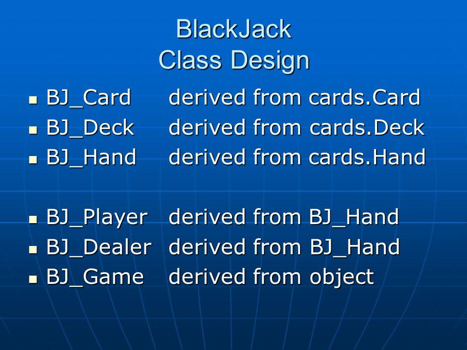 BlackJack Class Design