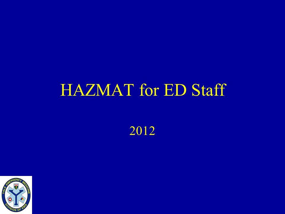 HAZMAT for ED Staff 2012