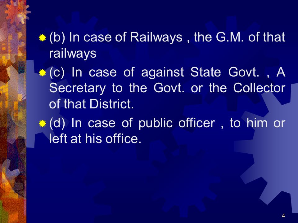 (b) In case of Railways , the G.M. of that railways