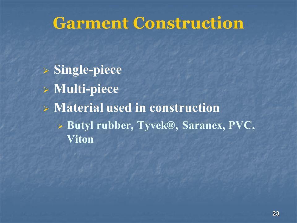 Garment Construction Single-piece Multi-piece