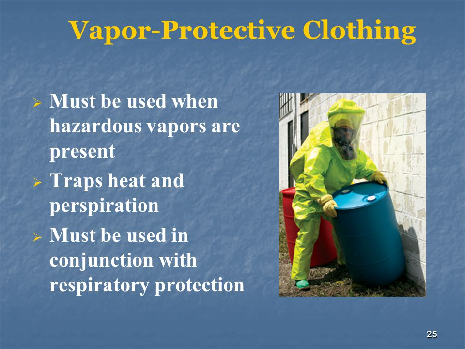 Vapor-Protective Clothing