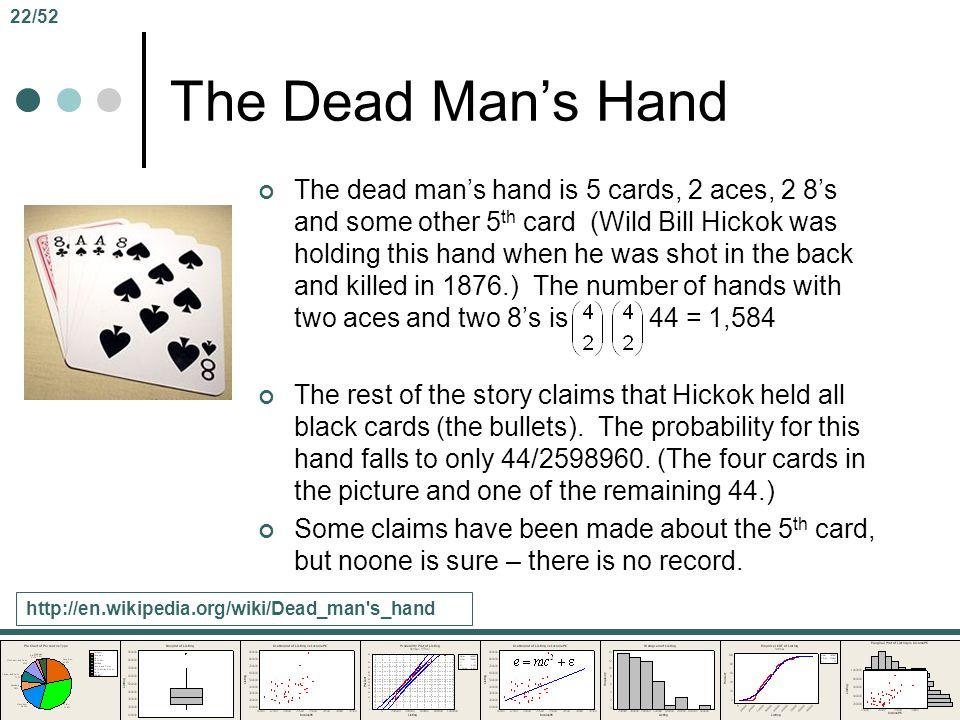 22/52 The Dead Man's Hand.