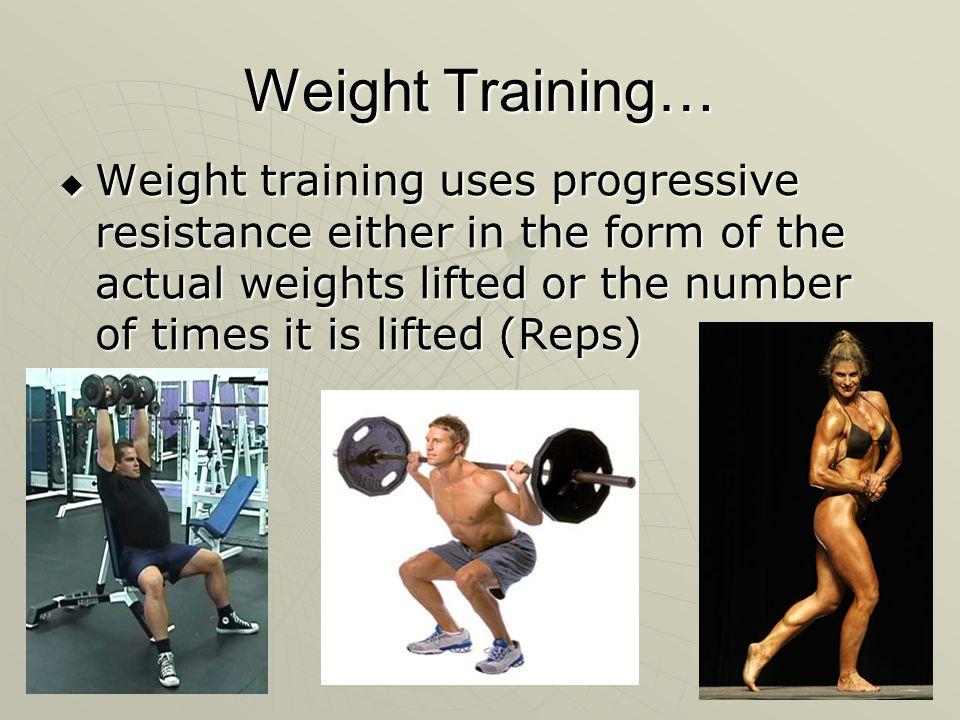 Weight Training…