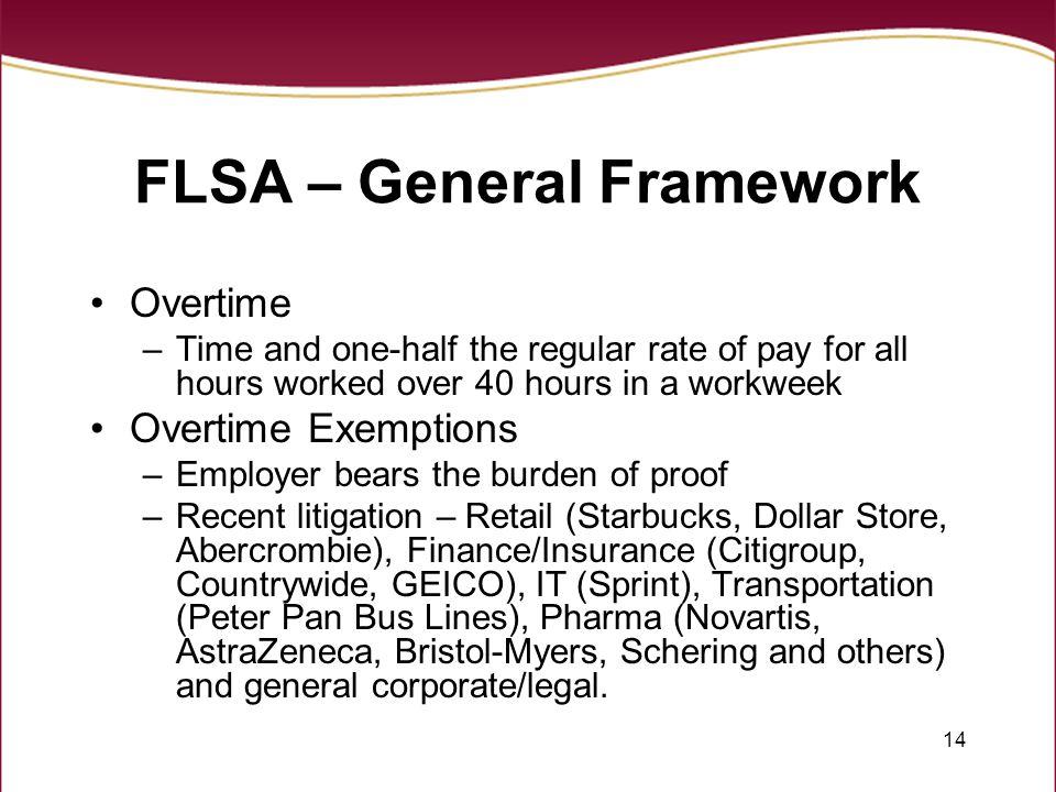 FLSA – General Framework