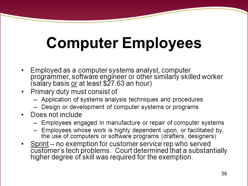 Computer Employees
