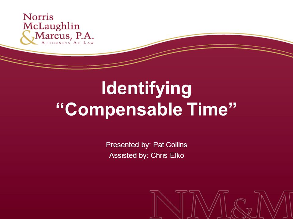 Identifying Compensable Time