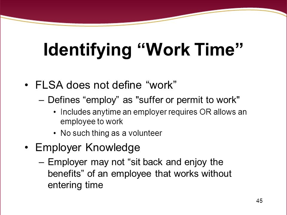 Identifying Work Time