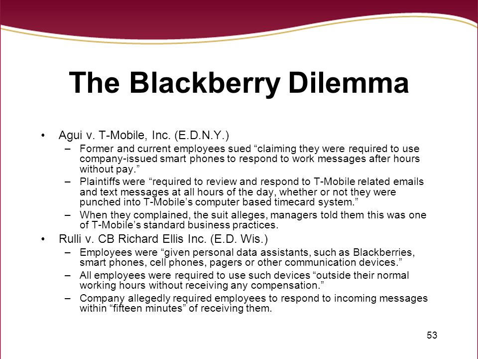 The Blackberry Dilemma