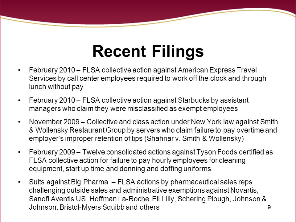 Recent Filings