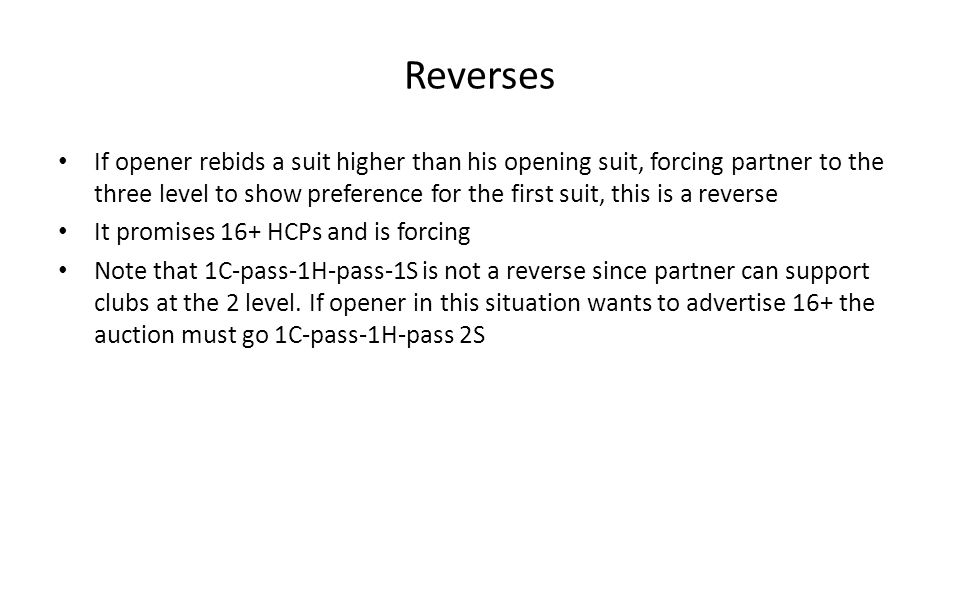 Reverses